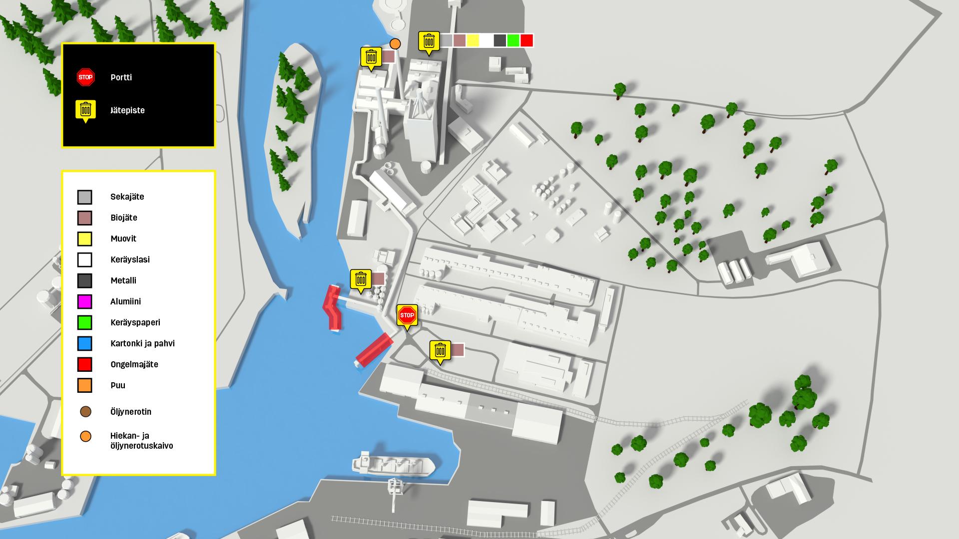 Kartta Oulun Satama Port Of Oulu