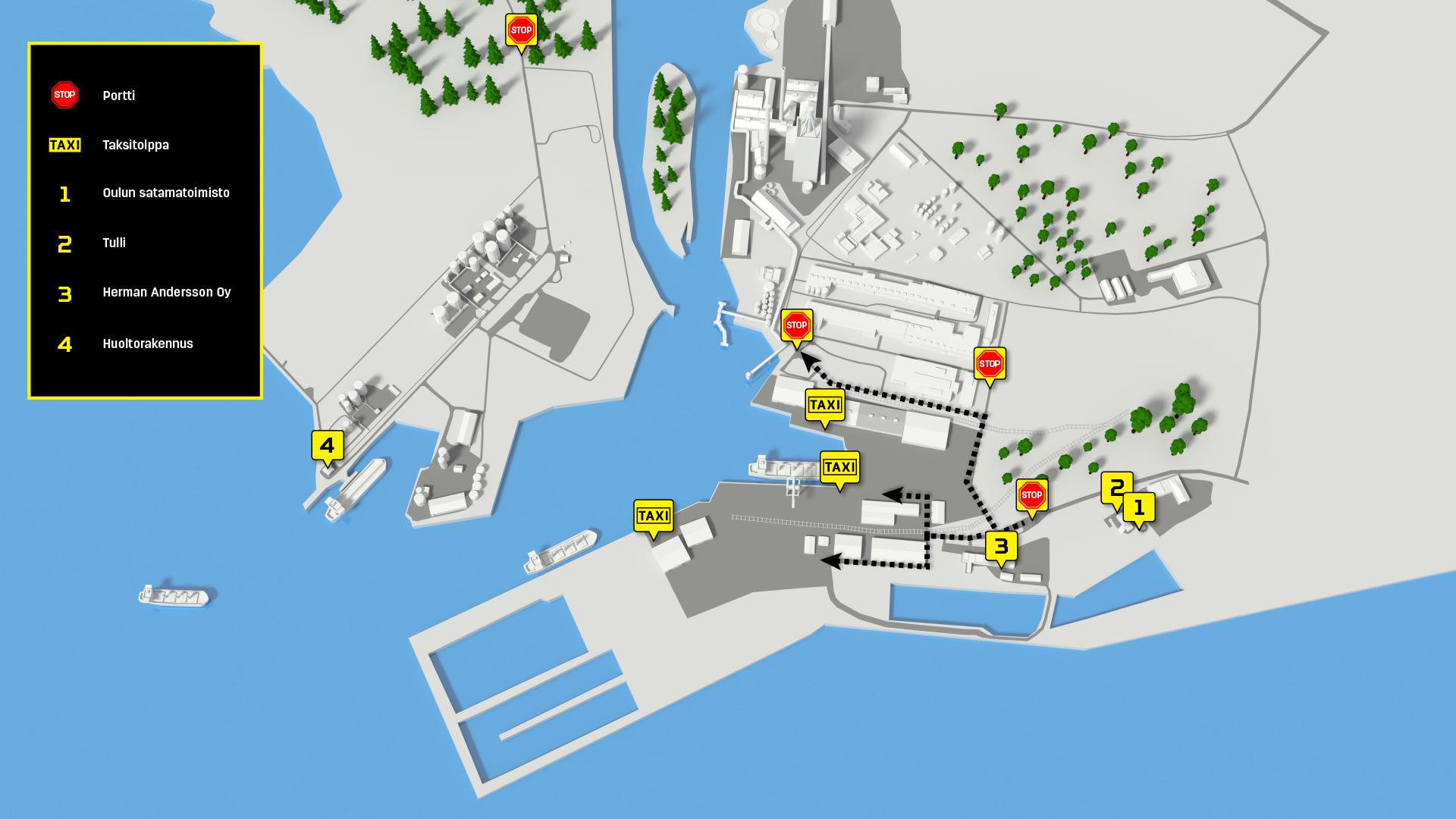 Map Oulun Satama Port Of Oulu